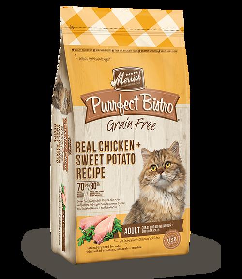 Merrick Purrfect Bistro Grain-Free Real Chicken + Sweet Potato Recipe Adult Dry Cat Food, 12 lb