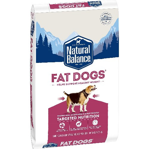 Natural Balance Fat Dogs Chicken & Salmon Formula Low Calorie Dry Dog Food, 28 lb