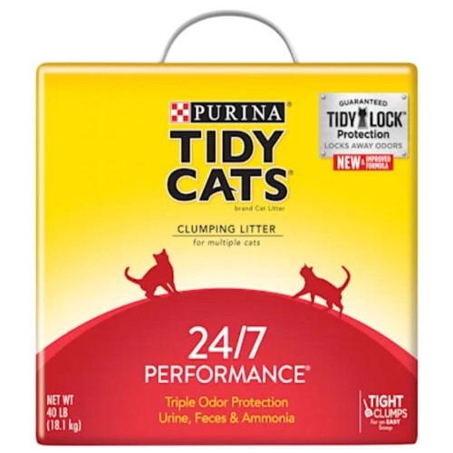 Tidy Cats 24/7 Performance Scented Clumping Clay Cat Litter, 40 lb Box