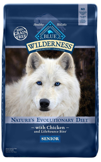 Blue Buffalo Wilderness Grain Free High Protein with Chicken Recipe Senior Dry Dog Food