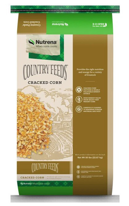 Nutrena Country Feeds Cracked Corn, 50 Lb