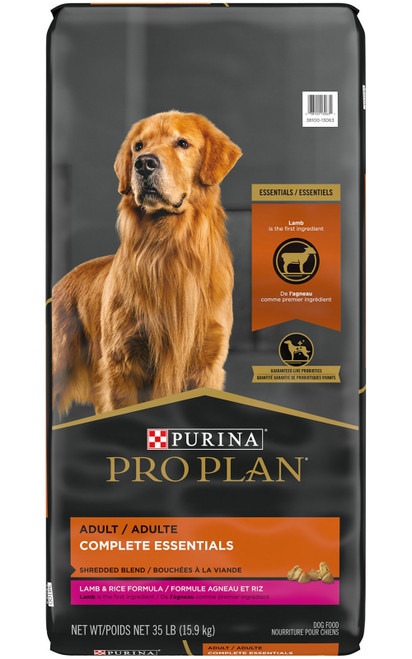Purina Pro Plan Savor Adult Shredded Blend Lamb & Rice Formula Adult Dry Dog Food, 35 Lb