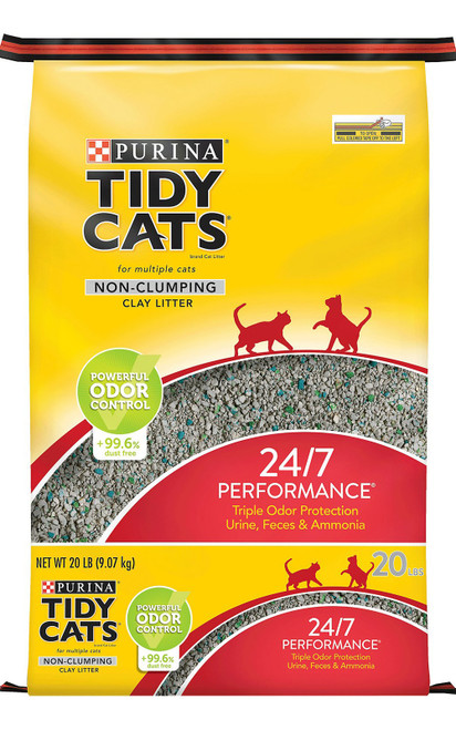 Tidy Cats 24/7 Performance Scented Non-Clumping Clay Cat Litter, 20 lb Bag