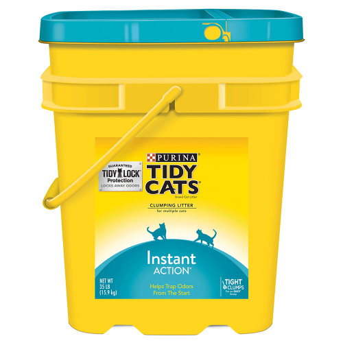 Tidy Cats Instant Action Scented Clumping Clay Cat Litter, 35 lb Pail