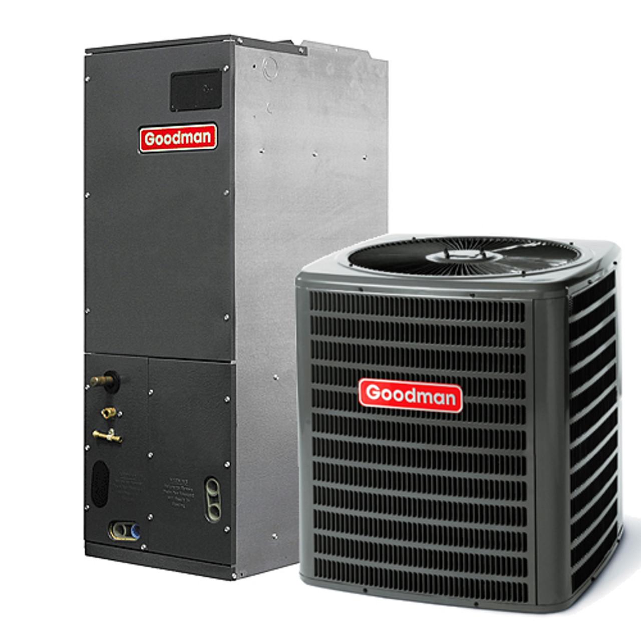 1 5 Ton Ac Unit 2 Ton Ac Package Unit Goodman 1 1 2 1 5 Ton 13 Seer Complete A C Split System