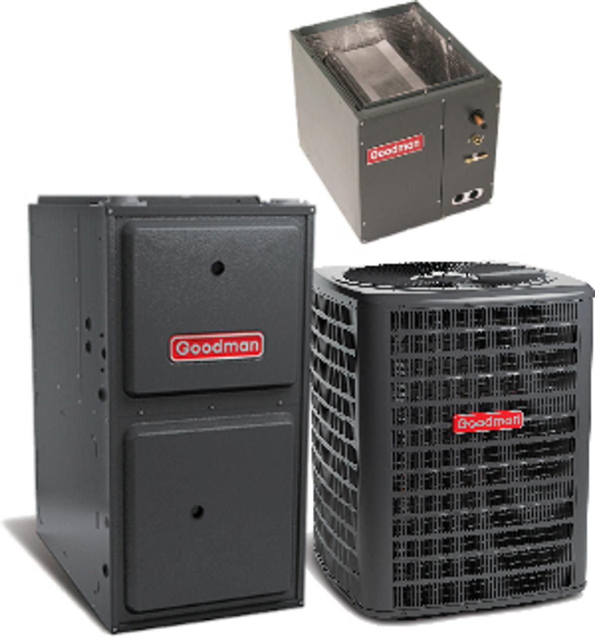 Goodman 4 Ton 13 Seer 80 100k Btu Gas Furnace Split System Upflow Downflow Vertical Horizontal Budget Air Supply
