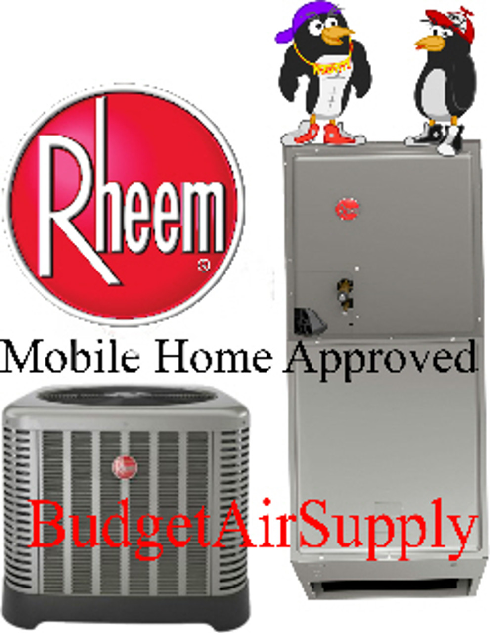 Rheem Mobile Home Approved 3 Ton 15 Seer A C With Electric Heat