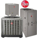 "Rheem RUUD ""Classic"" 2 Ton 14 Seer 80% 50K Btu Gas Furnace Split System"