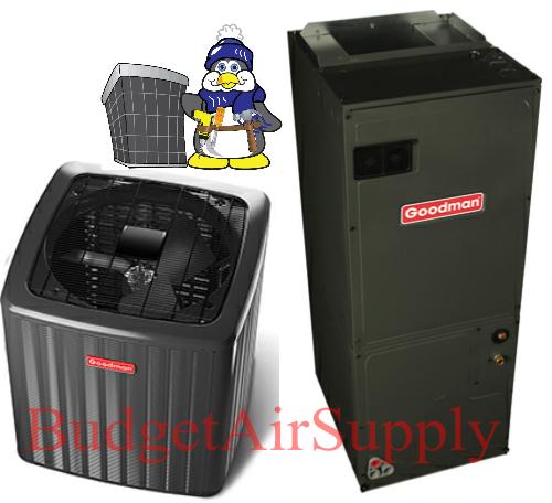 Goodman 2 ton 15 Seer Heat Pump Split System GSZ140241+ASPT29B14