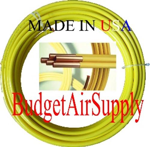 "5/8"" OD x 100 ft.COPPER YELLOW Plastic POLYETHYLENE Coated LP Propane Gas Tubing"
