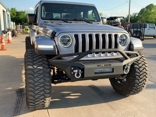 Iron Cross Jeep Wrangler JL / 2020 Jeep Gladiator Full Width Front Base Bumper with Bar
