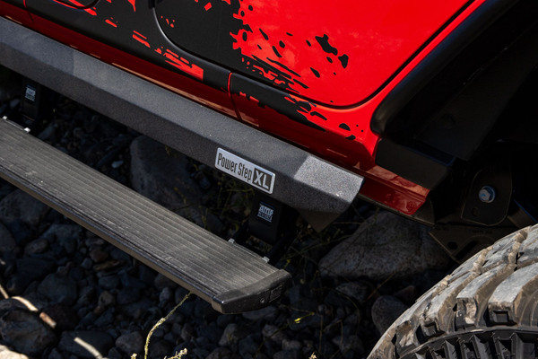 AMP Research PowerStep XL Jeep Wrangler JL Electric Running Boards
