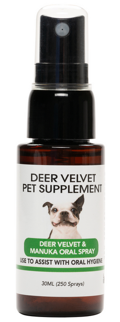 NZVel Deer Velvet Pet Supplement - Deer Velvet & Manuka Oral Spray