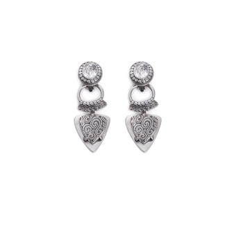 Bold Crystal Earring  (E2363) - ships immediately from Perth
