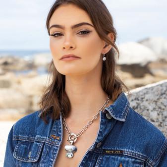 Petite Ocean Light Azure Drop Earrings - E4895 - $39 Shimmy Beach Pendant - EN1871 - $99
