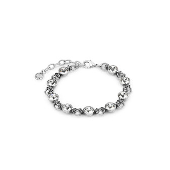 Lily Rose Bracelet (B1212)  Feeling feminine? Express yourself in a playful, notice-me bracelet  • Miglio burnished silver • 8mm Swarovski® crystal • secure lobster clasp fastening • 19cm with adjustable extender