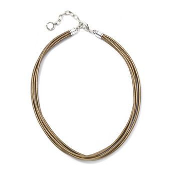 Sahara Leather Necklace ( N1084 )