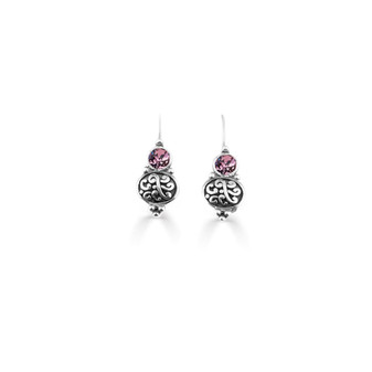 Antique Pink  Amour Drop Earrings ( E3310 )