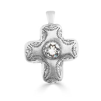 Fine Print Cross Pendant (EN1592)-$59