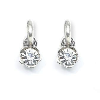 Glittering Rose Earring Charms (E2008)