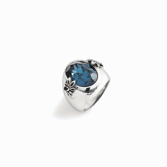 Denim Lily Rose Ring (RR182 P/R)-ships immediately from Perth