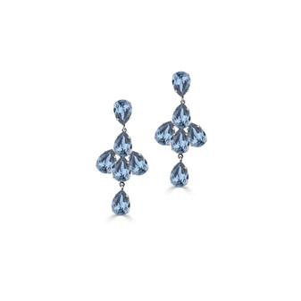 Shine On Denim Drop Earrings