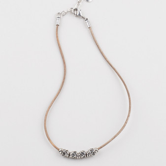Natural Leather Necklace (N1676)
