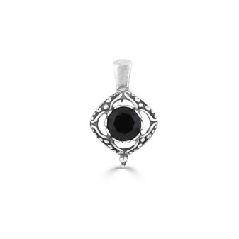 Mary Jane Jet Black Pendant (EN1781)