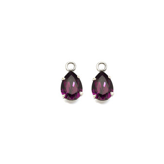 Amethyst Earring Charms (E2327) - Ships immediately from Perth