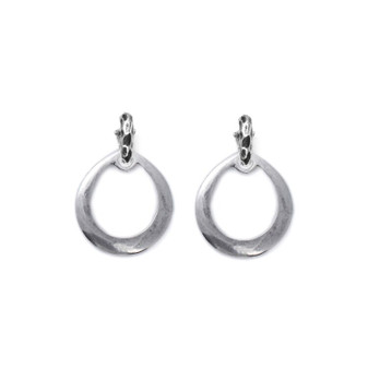 Calypso Burnished Silver Charm Earrings  ( E2372 )  - ships immediately from Perth