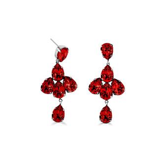 Shine On Scarlet Drop Earrings (  E4596 - Was AUD$189 )