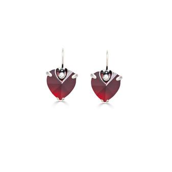Love Angel Heart Earrings (E931)