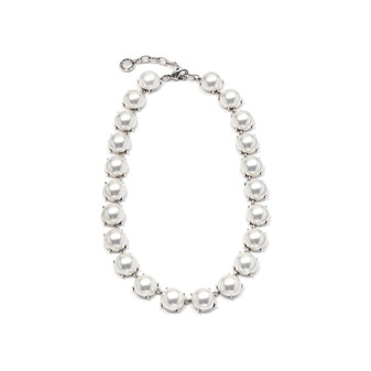 B.S White Pearl Necklace ( N1168 )