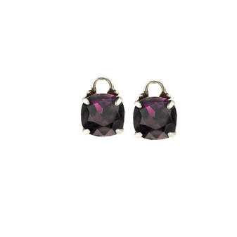 Amethyst Cushion Earring Charms (E2341) - ships immediately from Perth