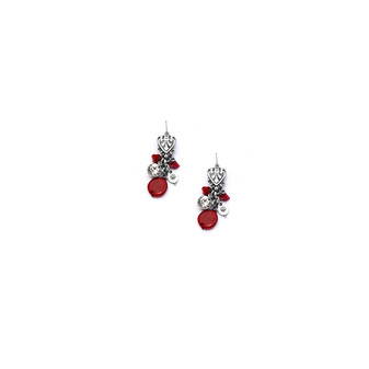 Coral Charm Earrings  (E2274) - Ships immediately from Perth