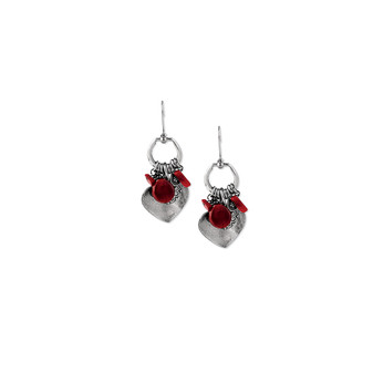 Plain Coral Charm Earring (E2273) - Ships immediately from Perth