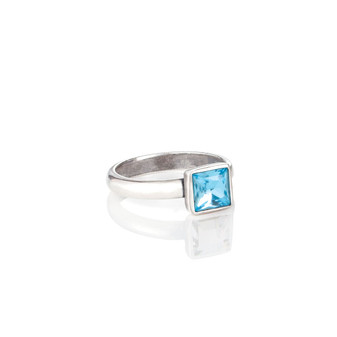 Square Aquamarine  Ring