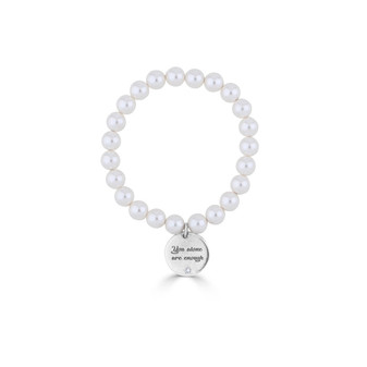 You Are Enough Pearl Bracelet
