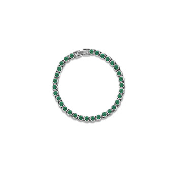 True Gem Emerald Tennis Bracelet (B1568)