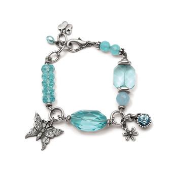 Gypsy Rose Aquamarine Bracelet (B953)