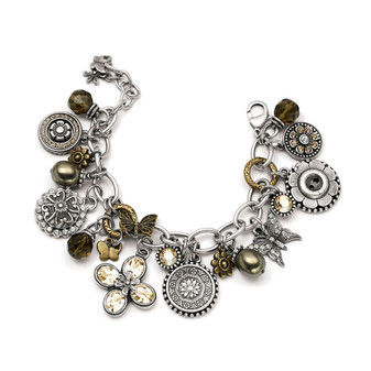 Golden Shadow Garden Party Charm Bracelet (B951)