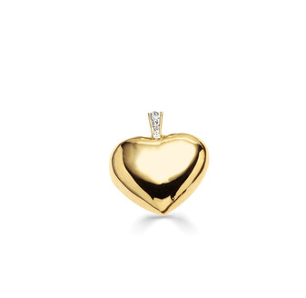 18ct Gold-plated Heart Pendant