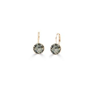 22ct gold-plated Black Diamond Petite Glam Rock Earrings  (E4691 )
