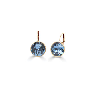 22ct gold-plated Denim Bold Glam Rock Earrings  ( E4706 )