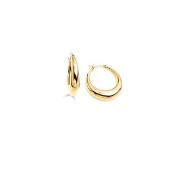 Modernist 18ct gold-plated Hoop Earrings