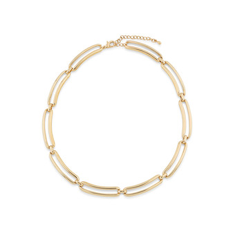Urban Cool 22ct gold-plated Chain Link Necklace  ( N2077 )