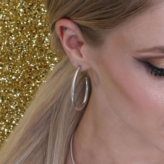 Modernist Hoop Earrings