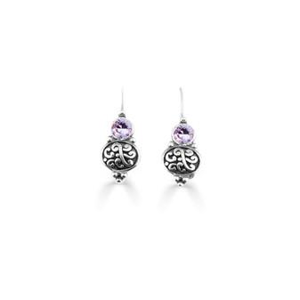Violet Amour Drop Earring  ( E4736 )