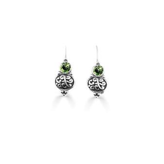 Peridot Amour Drop Earrings ( E4740 )