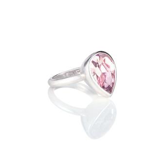 Bold Antique Pink Teardrop Ring